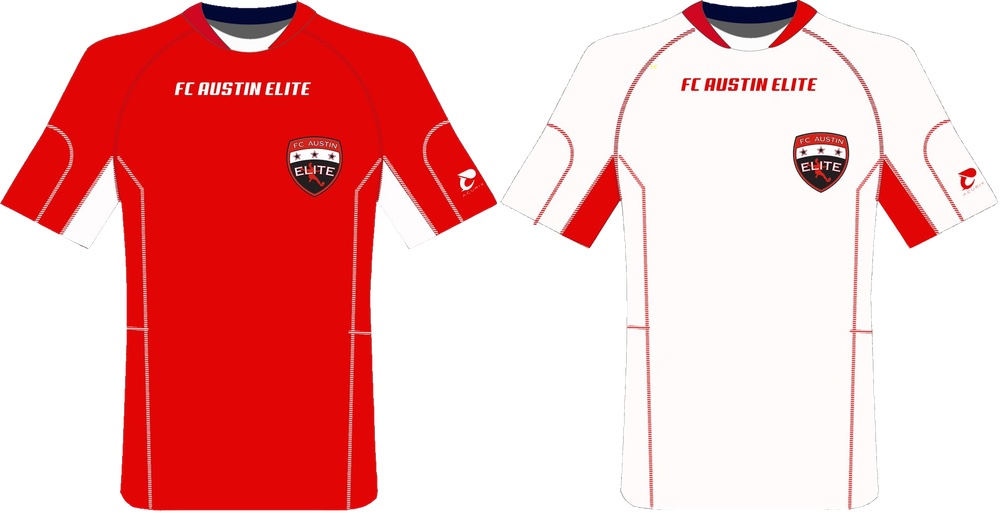 FC Austin Elite 2016 home & away jerseys - courtesy @FCAustinElite