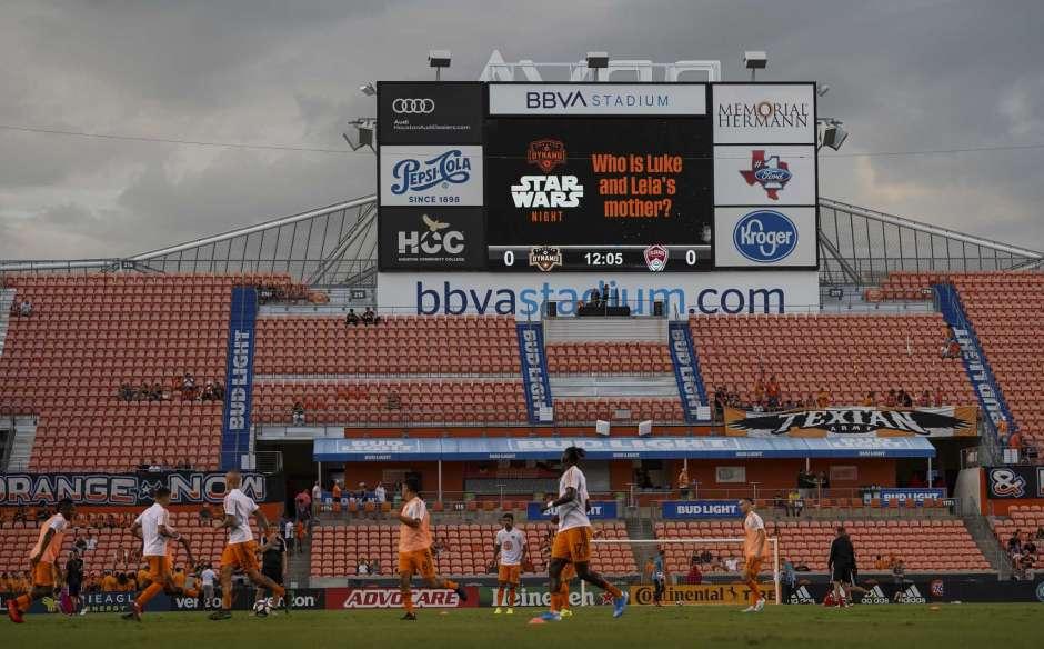 empty seats at BBVA stadium