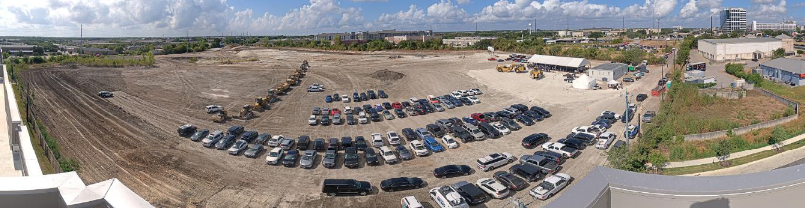 Austin FC groundbreaking aerial view