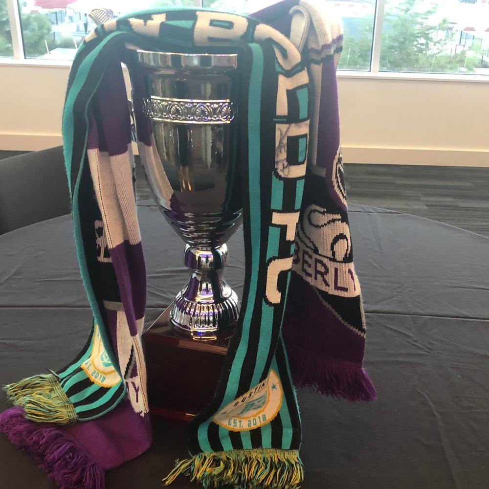 Copa Tejas trophy & scarves