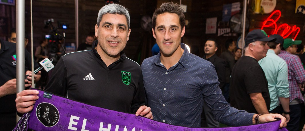 Claudio Reyna and Josh Wolff of Austin FC