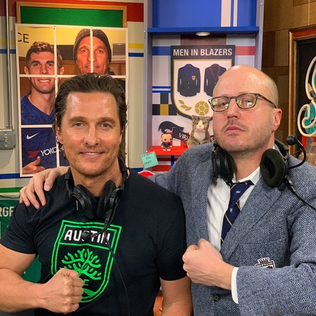 Matthew McConaughey and Roger Bennett on Men in Blazers