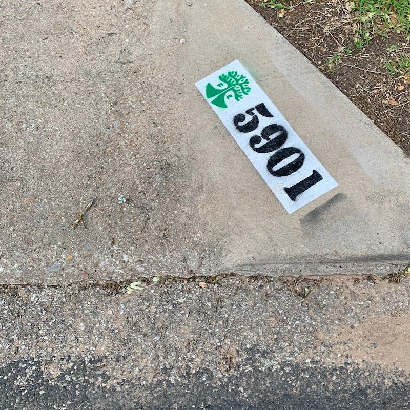 Street address with Austin FC logo