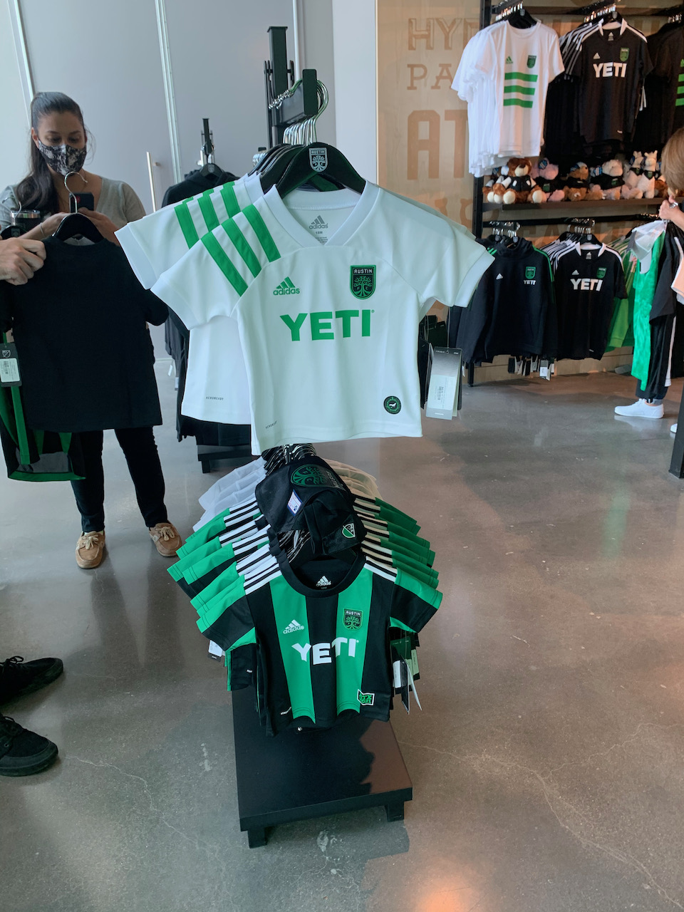 Little kids' jerseys at the Verde Store at McKalla Place