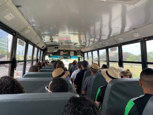 Inside the Pavemint shuttle school-bus