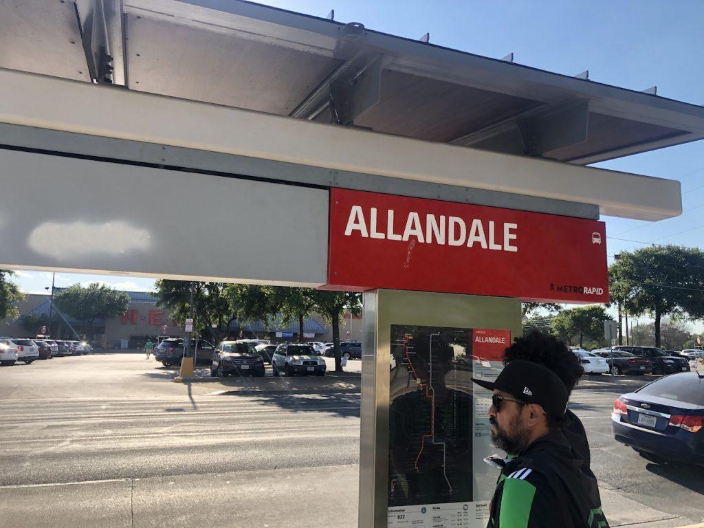 Allandale stop on the CapMetro 803 line
