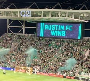 Scoreboard at McKalla Place says it: Austin FC Wins!